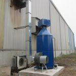 tháp xử lý khí thải nhà máy thép