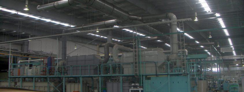 Hệ thống hút khí xưởng mạ