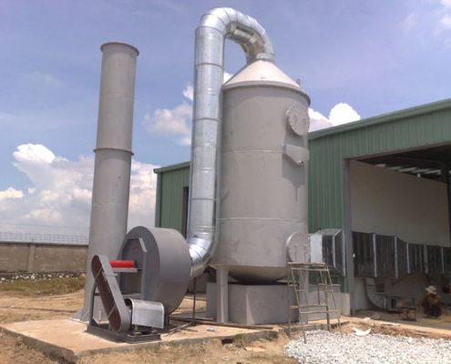 Xử lý khí thải bằng phương pháp hấp thụ có gì cần chú ý