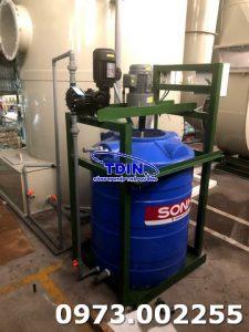 Bộ cấp hóa chất tháp xử lý khí thải dây chuyền điện hóa