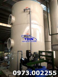 工业排放吸收塔式 PP 电化学生产线