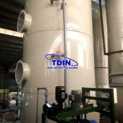 tháp hấp thụ khí thải PP dây chuyền điện hóa